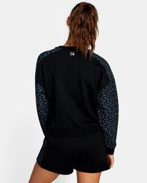 1 Matt Leines | Hustle Crewneck Sweatshirt Black AVJFT00124 RVCA