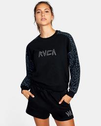 0 Matt Leines | Hustle Crewneck Sweatshirt Black AVJFT00124 RVCA
