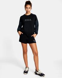 3 Matt Leines | Hustle Crewneck Sweatshirt Black AVJFT00124 RVCA