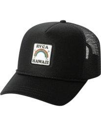 3 Aloha Rainbow TRUCKER HAT Black AVJHA00106 RVCA