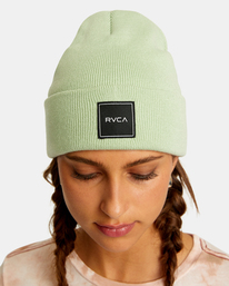 1 Essential Beanie Green AVJHA00117 RVCA