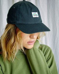 4 Camille Rowe | Camille Dad Hat Black AVJHA00121 RVCA