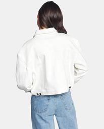 3 Tuesdays Denim Jacket White AVJJK00123 RVCA