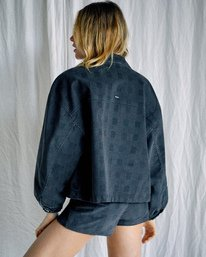 3 Camille Rowe | Bel Shirt Jacket Black AVJJK00129 RVCA