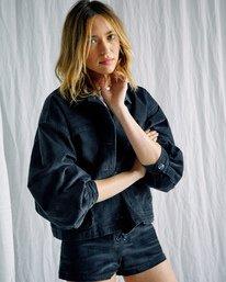 9 Camille Rowe | Bel Shirt Jacket Black AVJJK00129 RVCA