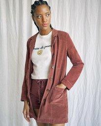 9 Camille Rowe | Paradis Coat Brown AVJJK00131 RVCA