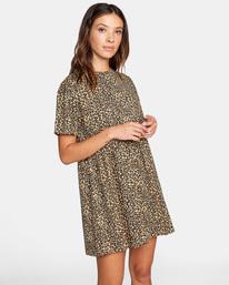 6 City Vibes Mini Dress Beige AVJKD00122 RVCA