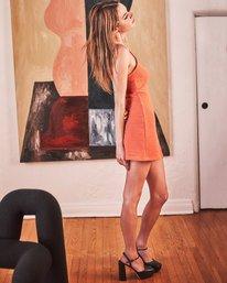 1 Camille Rowe   Frankie Tank Dress Orange AVJKD00125 RVCA