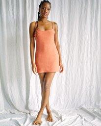4 Camille Rowe   Frankie Tank Dress Orange AVJKD00125 RVCA