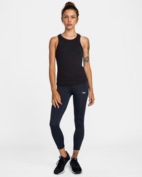 2 Essential Ribbed Workout Tank Top Black AVJKT00134 RVCA