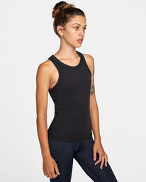 3 Essential Ribbed Workout Tank Top Black AVJKT00134 RVCA