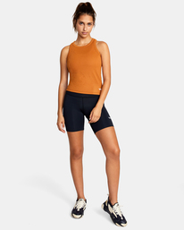 3 Essential Ribbed Workout Tank Top Brown AVJKT00134 RVCA