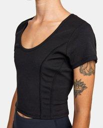 5 Cap Sleeve Top Black AVJKT00136 RVCA