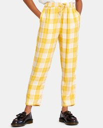 0 BLANK SLATE RELAXED FIT PANTS Yellow AVJNP00110 RVCA