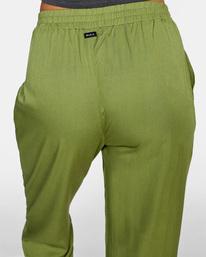 6 New Yume Beach Pants Green AVJNP00131 RVCA