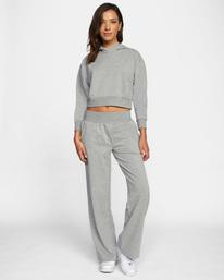 3 Rise Up Lounge Pants Grey AVJPT00108 RVCA