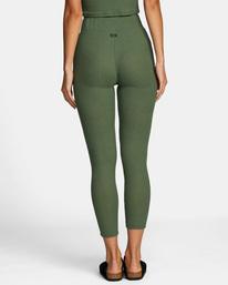 1 With Love High-Waisted Leggings Green AVJPT00109 RVCA