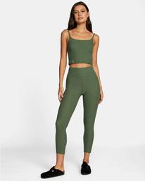 2 With Love High-Waisted Leggings Green AVJPT00109 RVCA