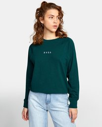 0 ROUNDED PULLOVER SWEATER Green AVJSF00104 RVCA