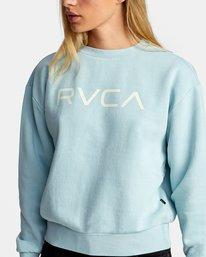2 BIG RVCA PULLOVER SWEATSHIRT Blue AVJSF00132 RVCA