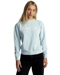 0 BIG RVCA PULLOVER SWEATSHIRT Blue AVJSF00132 RVCA