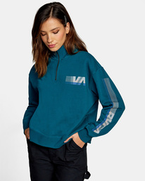 1 La 84 Quarter Zip Sweatshirt Multicolor AVJSF00156 RVCA