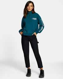 4 La 84 Quarter Zip Sweatshirt Multicolor AVJSF00156 RVCA