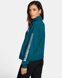 6 La 84 Quarter Zip Sweatshirt Multicolor AVJSF00156 RVCA