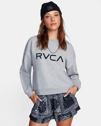 0 Big RVCA Crewneck Sweater Grey AVJSF00157 RVCA