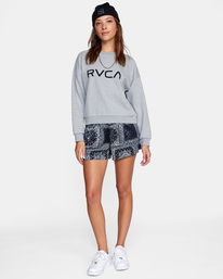 3 Big RVCA Crewneck Sweater Grey AVJSF00157 RVCA