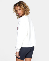 5 Cambridge Crewneck Sweater White AVJSF00158 RVCA
