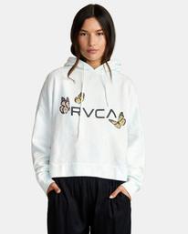 0 Big RVCA Venice Hoodie White AVJSF00163 RVCA