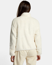 1 Relaxed RVCA Quarter Zip Sweater White AVJSF00178 RVCA