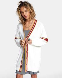 4 Matt Leines   Uprise Cardigan Sweater White AVJSW00121 RVCA