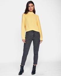 3 New Wave Knit Sweater White AVJSW00123 RVCA
