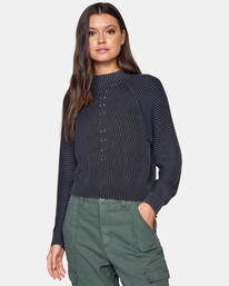 0 New Wave Knit Sweater White AVJSW00123 RVCA