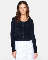 0 Clueless Cardigan Sweater White AVJSW00125 RVCA