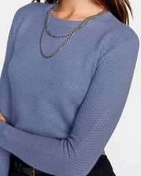 2 Maybe Later Knit Sweater Blue AVJSW00126 RVCA