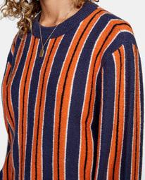 3 Never Better Knit Sweater Blue AVJSW00127 RVCA