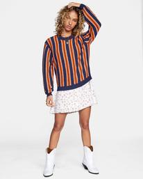 4 Never Better Knit Sweater Blue AVJSW00127 RVCA