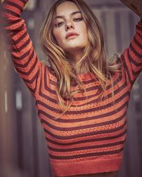 0 Camille Rowe   Paris Pointelle Sweater Orange AVJSW00128 RVCA