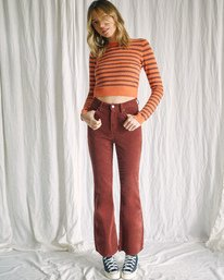 5 Camille Rowe   Paris Pointelle Sweater Orange AVJSW00128 RVCA