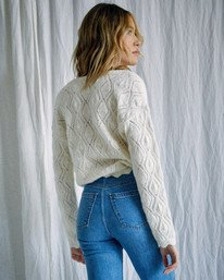 1 Camille Rowe | Cafe Cardigan Sweater White AVJSW00129 RVCA