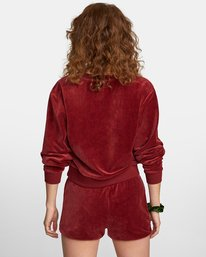 1 DAY OFF SWEATER Red AVJTO00100 RVCA