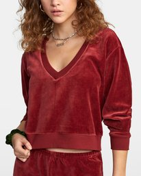4 DAY OFF SWEATER Red AVJTO00100 RVCA
