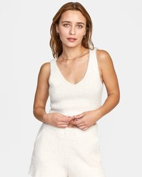 0 CABIN FEVER KNIT TANK TOP White AVJTO00106 RVCA