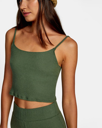 2 With Love Tank Top Green AVJTO00122 RVCA