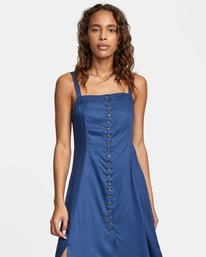 0 JETHRO MIDI DRESS Blue AVJWD00140 RVCA