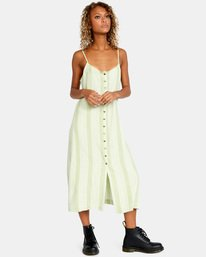1 Shadow Dress Green AVJWD00163 RVCA