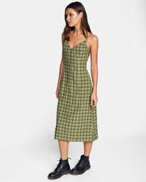 4 Uptown Tank Dress Green AVJWD00175 RVCA